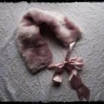 Pink Faux Fur Collar with R..