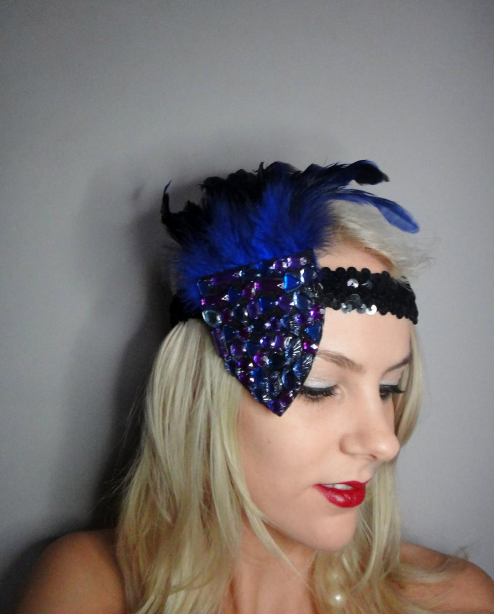 1920s multicoloured flapper headband