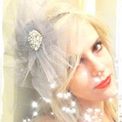 1920s grey twinkle bridal flapper headband